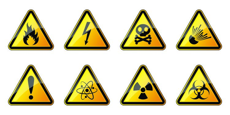 labels and warning signs