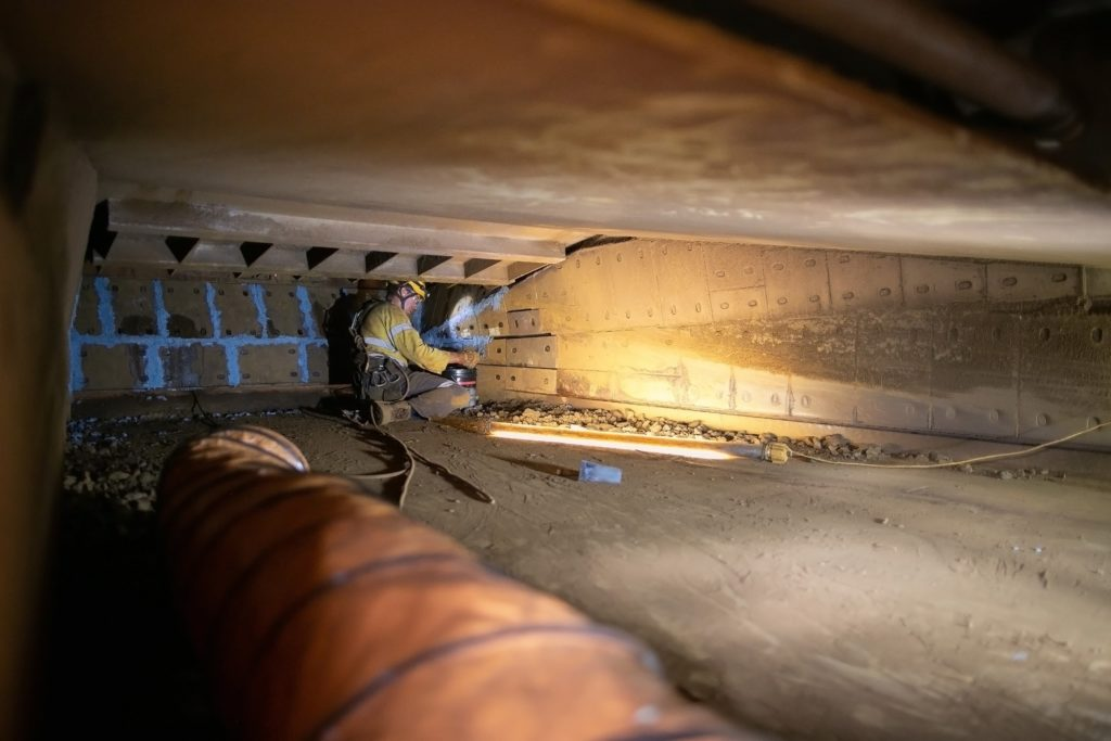 work safety in a confined space
